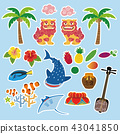Okinawa tourist specialty material illustration 43041850