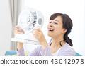 แม่บ้านเย็นแม่แม่พร้อมพัดลมไฟฟ้า 43042978