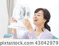 แม่บ้านเย็นแม่แม่พร้อมพัดลมไฟฟ้า 43042979