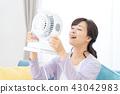 แม่บ้านเย็นแม่แม่พร้อมพัดลมไฟฟ้า 43042983