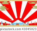 日本風景日出背景 43045023
