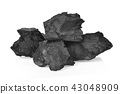 Coals on  White Background 43048909