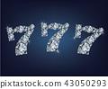Jackpot casino lotto label made a lot of diamonds  43050293