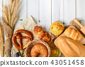 Homemade breads or bun, croissant and bakery 43051458