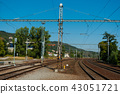 Train station for passenger and freight transport. 43051721