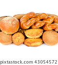 Various of bread and bakery products isolated 43054572