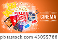 cinema, movie, popcorn 43055766
