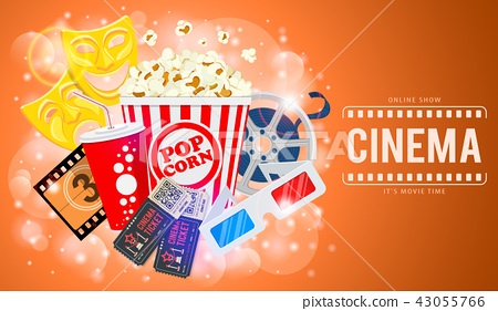 Cinema and Movie Banner 43055766