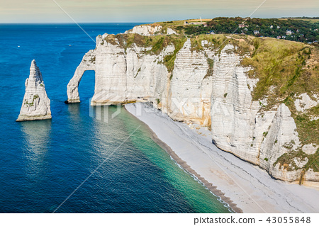 The famous cliffs at Etretat in Normandy, France 43055848