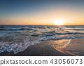 Beautiful sunrise over the sea. 43056073
