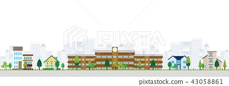 School Building Background 43058861