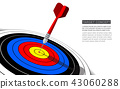 Dart board isolated template for business goal 43060288