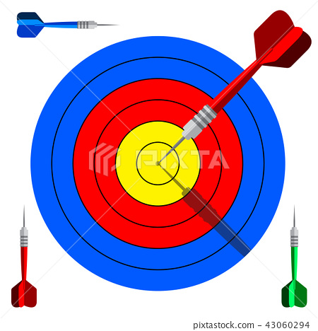 Target dart icon for marketing solutions concept 43060294