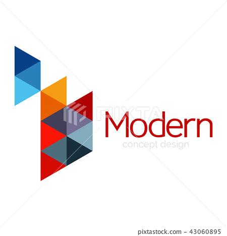 Triangle shape design abstract business logo icon design. Company logotype branding emblem idea 43060895