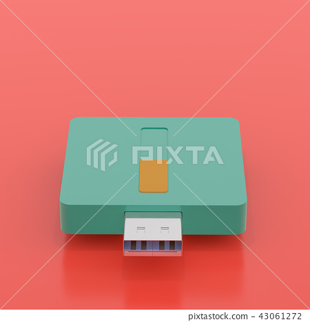 USB flash drive pop art color style 43061272