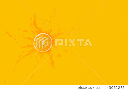 Minimal concept, Orange fruit on Orange juice 43061273