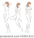 cartoon nude woman 43061422