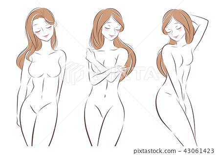 Nude cartoon drawing