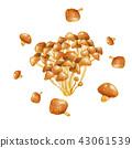 Nanako秋天蘑菇水彩例證 43061539