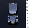 黑色北美規格燃料電池電動卡車艙前面圖像。零排放物流概念 43062214