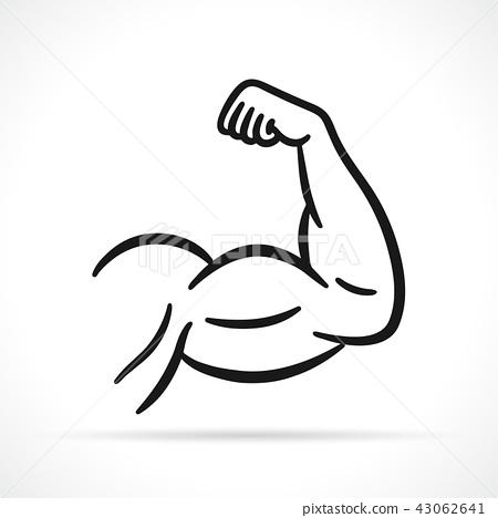 Vector muscular arm black icon 43062641