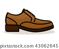 Vector shoe on white background 43062645