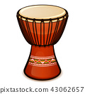 Vector djembe on white background 43062657