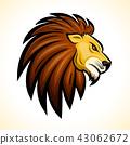 Vector lion head mascot concept 43062672