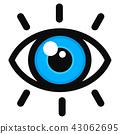 Vector open eye color icon 43062695