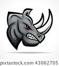 Vector rhino head mascot concept 43062705