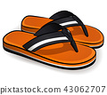 Vector flip flops orange design 43062707