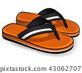 Vector flip flops orange design 43062707