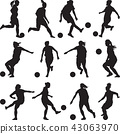 woman soccer player silhouette 43063970