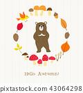 动物 树叶 枫树 43064298
