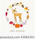 动物 树叶 枫树 43064301