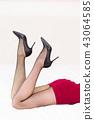Beautiful young woman legs 43064585