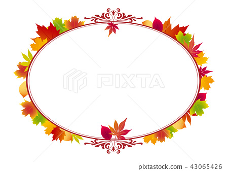 Maple leaf decorative border, Decoration border, Autumn image, Maple leaf border, Maple leaf, Decoration, Border 43065426