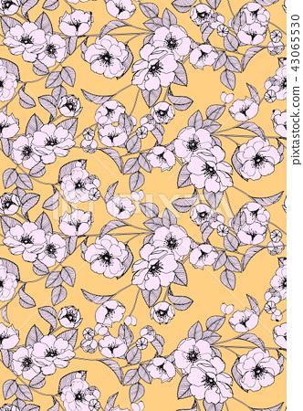 抽象的無縫菊花花卉集合 43065530
