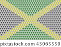Flag of Jamaica on metal 43065559