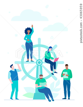 Business management - flat design style colorful illustration 43065959