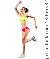 Young sporty woman isolated 43066582
