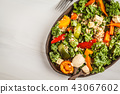 Healthy vegan salad with roasted vegetables 43067602