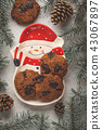 Christmas cookies with chocolate  43067897
