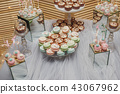 Wedding candy bar. Dessert with a macaroons 43067962