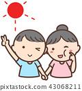 웃는 아이의 일러스트 43068211