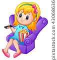 chair, child, girl 43068636