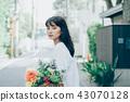 꽃이있는 생활 여성 인물 43070128