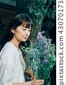 꽃이있는 생활 여성 인물 43070173