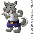 Funny cartoon wolf 43070742