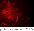 Red radar target shooting range black background 43071224